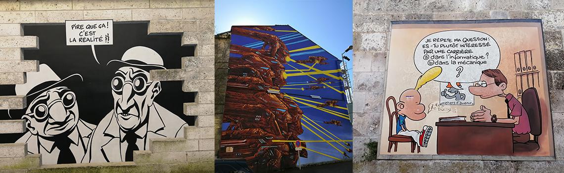Angoulême BD, Murs Peints, Street Art